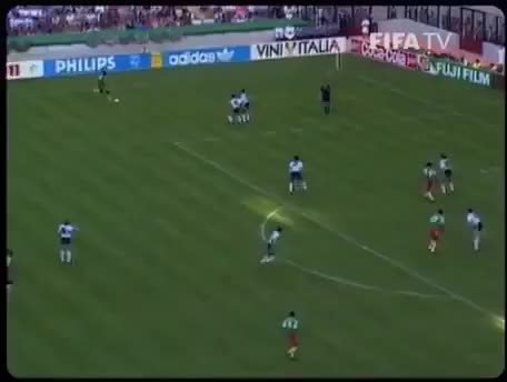 Watch and share CAMEROON - Omam-Biyik Vs Argentina, 1990 GIFs on Gfycat