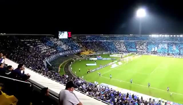 Watch Millonarios 2 Nacional 1 2016 I Liga Aguila Salida Mosaico Tifo GIF on Gfycat. Discover more related GIFs on Gfycat