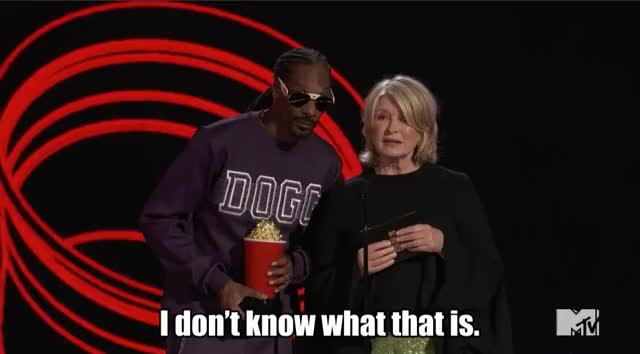 Watch this mtv awards GIF by GIF Reactions (@visualecho) on Gfycat. Discover more MTV Awards, MTV Awards 2017, MTVAwards, MTVAwards2017, Martha Stewart, Snoop Dogg, SnoopDogg GIFs on Gfycat