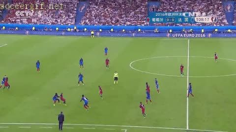 Watch and share Euro Jul Portugal France Eder Goal GIFs on Gfycat