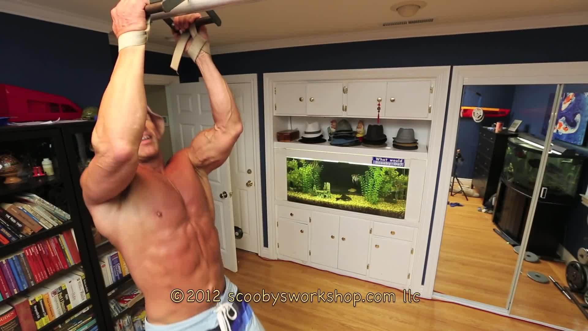 bodybuilder, bodybuilding, home, Narrow grip pullups - best bodyweight exercise GIFs