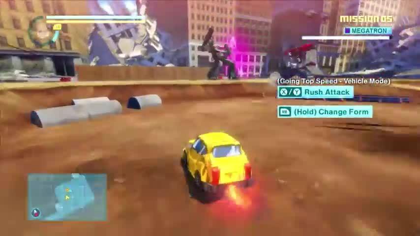 twobestfriendsplay, Look at Megatron just getting bodied by Bumblebee in Transformers: Devastation (reddit) GIFs