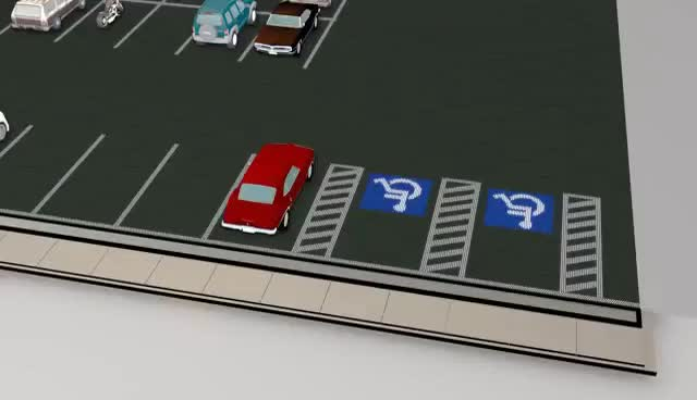 Watch Solar Roadway Handicapped Parking Demo GIF on Gfycat. Discover more related GIFs on Gfycat