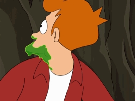 gifrequests, Could someone make a gif of Fry from the episode Fry and The Slurm Factory where he is wolfing down the trough of super concentrated Slurm and says,