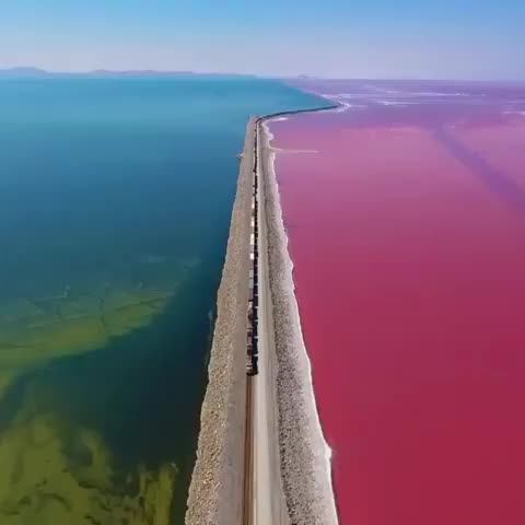 Watch Aerial view of the Great Salt Lake GIF by Boojibs (@boojibs) on Gfycat. Discover more Salt Lake, Train GIFs on Gfycat