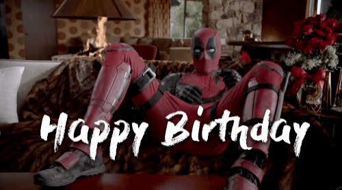 deadpool, happy birthday, ryan reynolds, deadpool GIFs