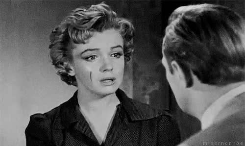 Watch Marilyn Monroe in Don't Bother To Knock, 1952. GIF on Gfycat. Discover more 1950s, 1952, b&w, celebs, don't bother to knock, fav movie, film, gif, marilyn monroe, mygif, oh, old hollywood GIFs on Gfycat