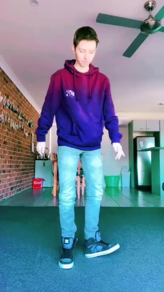 dancing, footwork, purple, transboy, Just a little dance before work #dancing #footwork #purple #transboy #cute #work #skill #dab #rolly GIFs