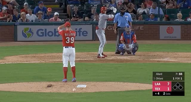 Watch and share Los Angeles Angels GIFs and Texas Rangers GIFs by devanfink on Gfycat