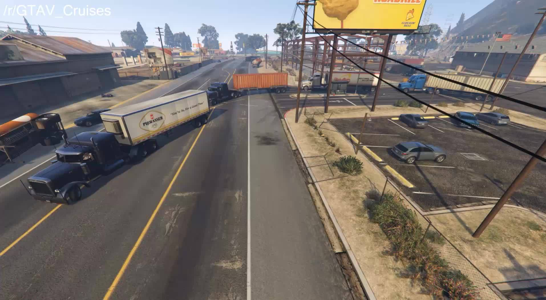 gtav, Convoy heading out GIFs