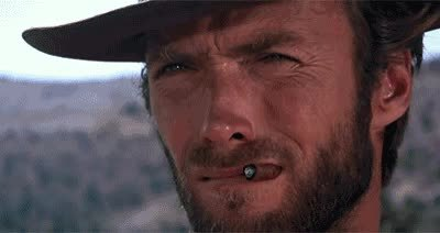 Clint Eastwood, catpranks, Good the bad and the ugly Weirdo kitty GIFs