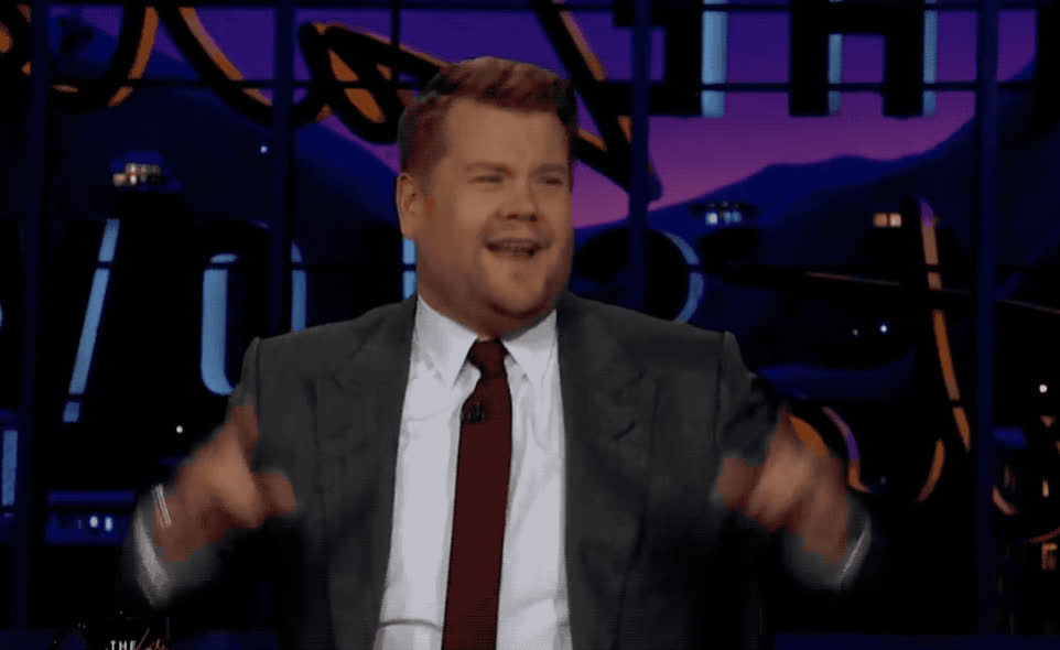 amazing, awesome, celebrate, celebrating, corden, excited, exciting, great, james, late, night, party, pop, rock, show, star, James Corden - Awesome GIFs