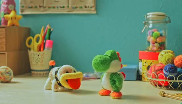 Watch and share Poochy & Yoshi's Woolly World - Prendi, Poochy! (Nintendo 3DS) GIFs on Gfycat