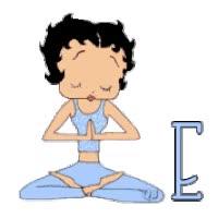 Watch and share Betty Boop Yoga Meditation Girl Contemplation Nirvana Animated Alphabet Alfabeto Gif Ragazza Fille Muchacha Donna Frau animated stickers on Gfycat