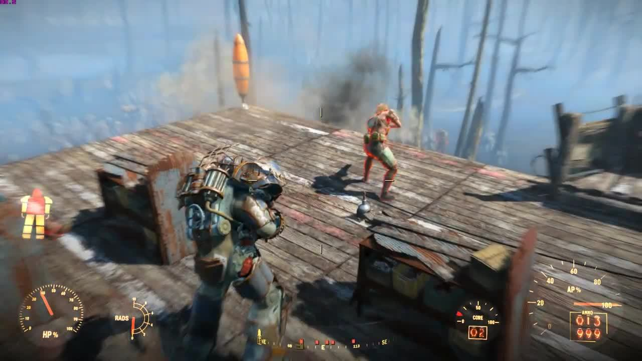 Fallout 4, fo4, slow motion explosion, fo4 slow motion grenade GIFs