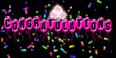 Watch and share Animated Congratulations GIFs on Gfycat