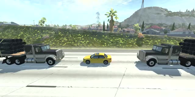 Watch and share Semi Truck Vs Car GIFs and Game Physics GIFs by Acid Bubble on Gfycat