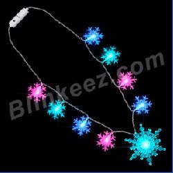 Watch and share JUMBO Snowflake String Lights Flashing Necklace GIFs on Gfycat