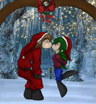 Watch and share Valendrian And Ivy Kiss Under The Mistletoe Gif By Demongal109 GIFs on Gfycat