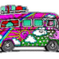 Watch and share Hippie Bus animated stickers on Gfycat