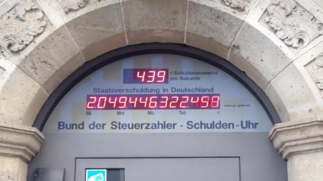 Staatsverschuldung Deutschland Schuldenuhr 2014 GIFs