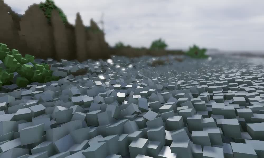 Realtime Minecraft Style Simulated Ocean GIFs