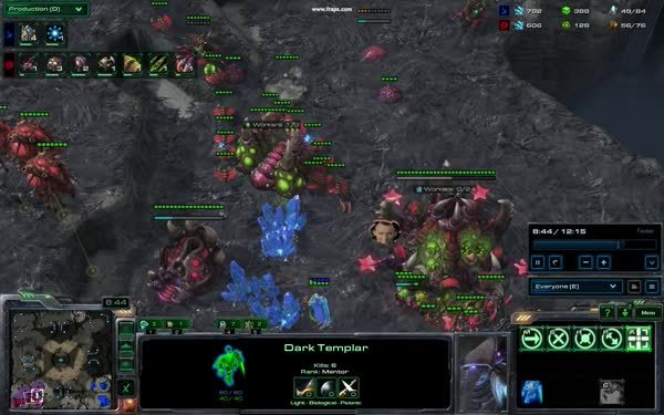 GosuMicro, games, starcraft, Roaches, drones, a DT, no detection. Let the dancing begin! (reddit) GIFs