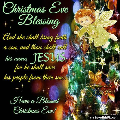 Watch and share Religious Christmas Eve Blessings Quote GIFs on Gfycat