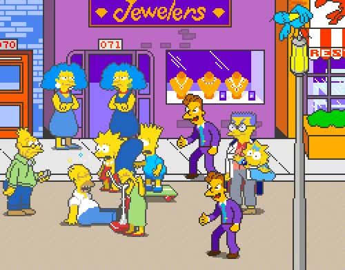 "Watch ""Jewelers"" - The Simpsons Arcade Game (Konami - arcade - 1991) GIF on Gfycat. Discover more related GIFs on Gfycat"