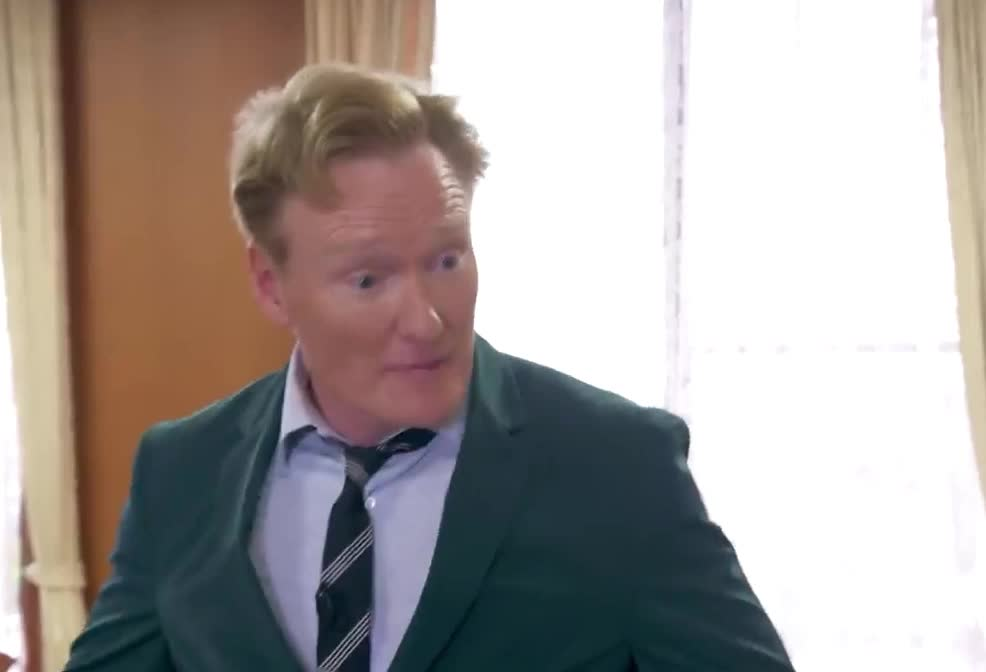 amazing, awesome, best, brien, celebrate, conan, ever, excited, happy, japan, japanese, mayor, news, o, obrien, victory, win, woohoo, yeah, yes, Conan Visits Conan Town In Japan GIFs