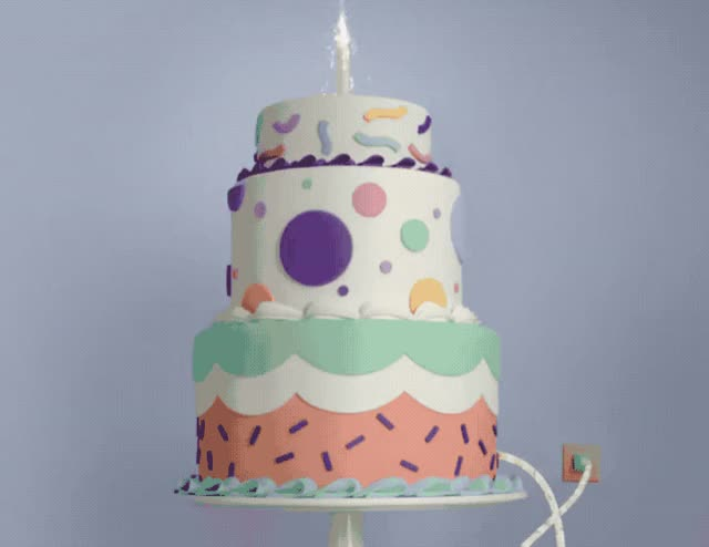 Watch this cake GIF by GIF Queen (@ioanna) on Gfycat. Discover more a, bday, best, birthday, cake, candle, candles, colorful, confetti, explode, facebook, food, happy, happy birthday, make, purple, smoke, wish, wishes, you GIFs on Gfycat
