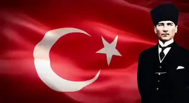 Watch and share Dalgalanan Bayrak Ve Atatürk GIFs on Gfycat