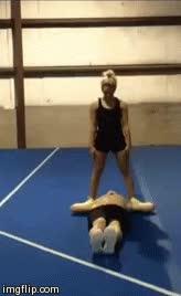 Watch and share Gif Fitblr Gymnastics Fitness Crossfitters Julian Daigre Austyn Raye GIFs on Gfycat
