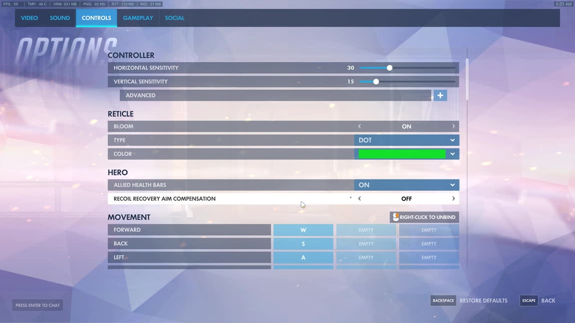 Competitiveoverwatch, New Recoil Recovery Option in PTR (reddit) GIFs