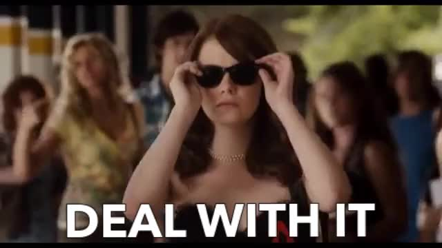 Watch this emma stone GIF by ioanna on Gfycat. Discover more GIF Brewery, best, deal, deal with it, emma, emma stone, funny, gif brewery, scene, stone, sunglasses GIFs on Gfycat