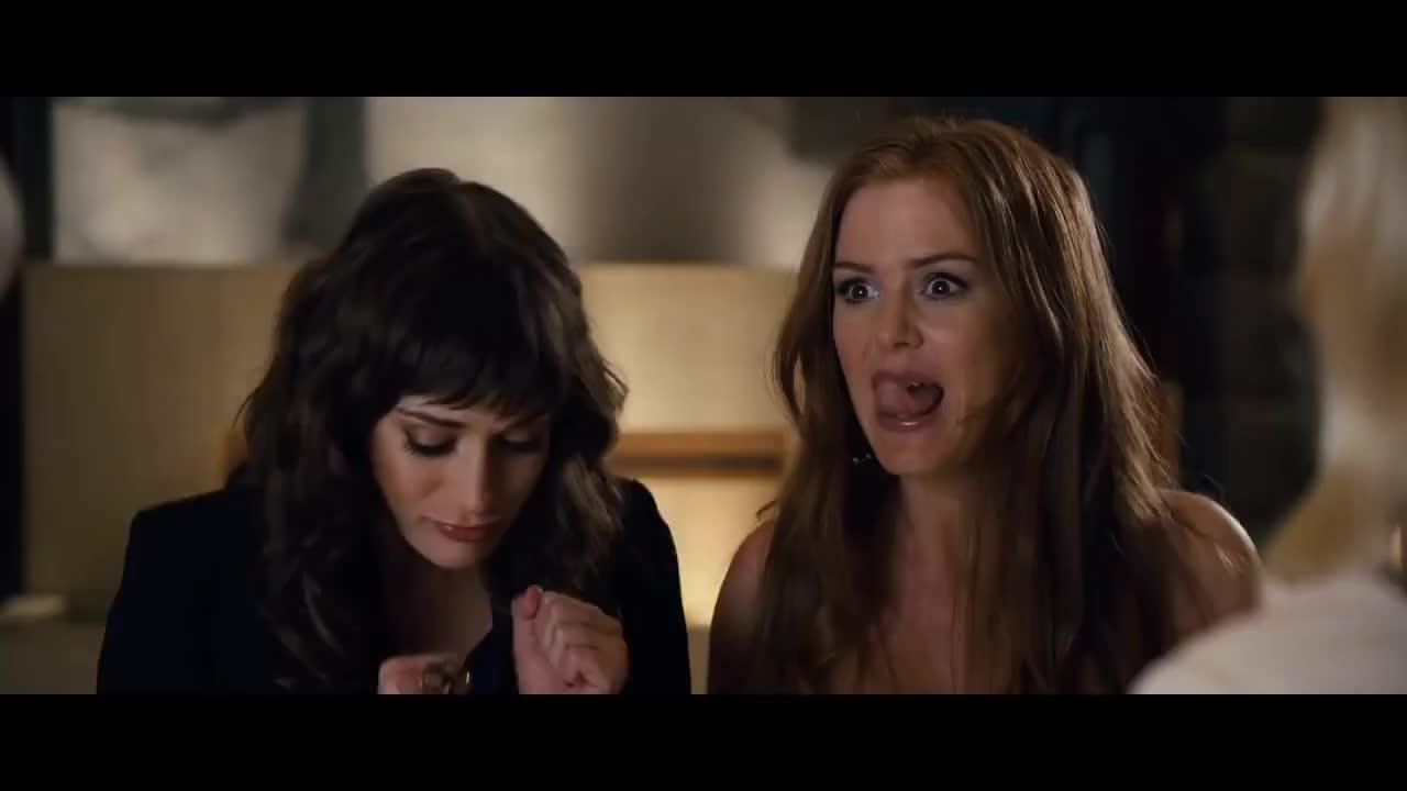 isla fisher, lizzy caplan, Bachelorette Trailer HD - Kirsten Dunst, Isla Fisher, Rebel Wilson (2013) - Comedy GIFs