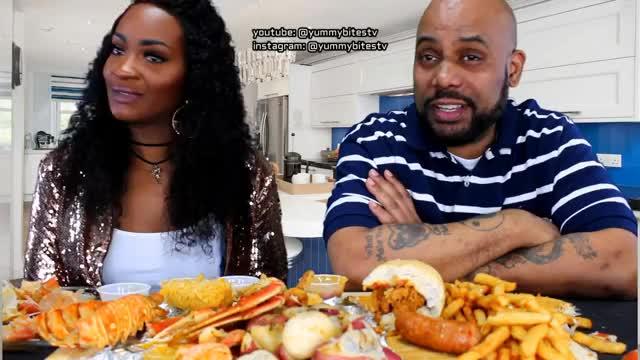 Watch KRAB QUEENZ MUKBANG! GIF on Gfycat. Discover more LOBSTER, bloveslife, comedy, corn, eat, eating, mukbang, mukbangs, potatoes, sausage, seafood, yummybitestv GIFs on Gfycat