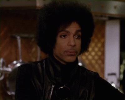 prince, purplerain, restinpeace, Prince snarky afro restinpeace purplerain GIFs