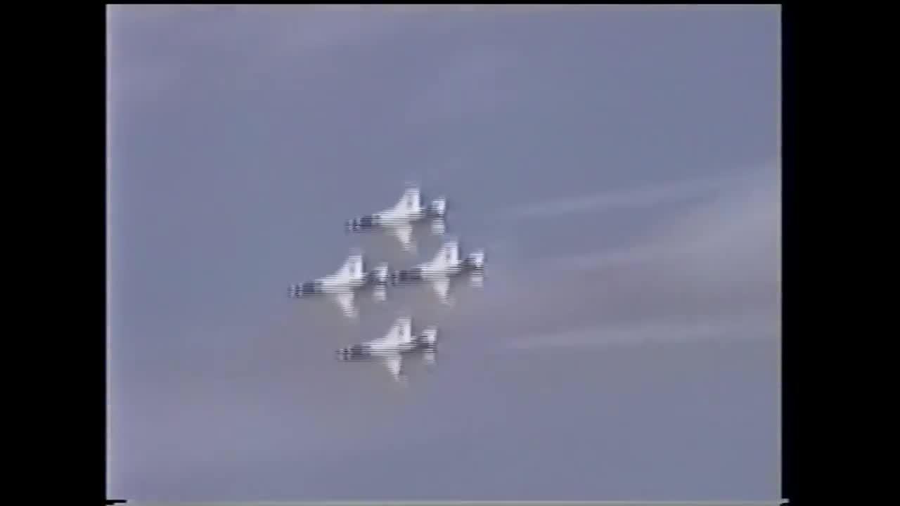 WarplaneGfys, warplanegfys, Thunderbirds COLLIDE during diamond!!!  Parts fall off! (reddit) GIFs
