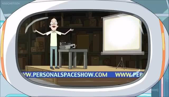 Watch and share Rick And Morty - Personal Space GIFs on Gfycat