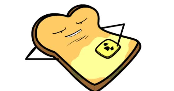 Watch and share Toast Of Bread Rubbing Butter On Itself GIFs on Gfycat