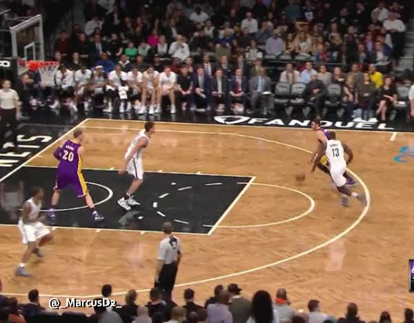 Watch and share Larry Nance Jr Dunk On Brook Lopez GIFs by MarcusD on Gfycat