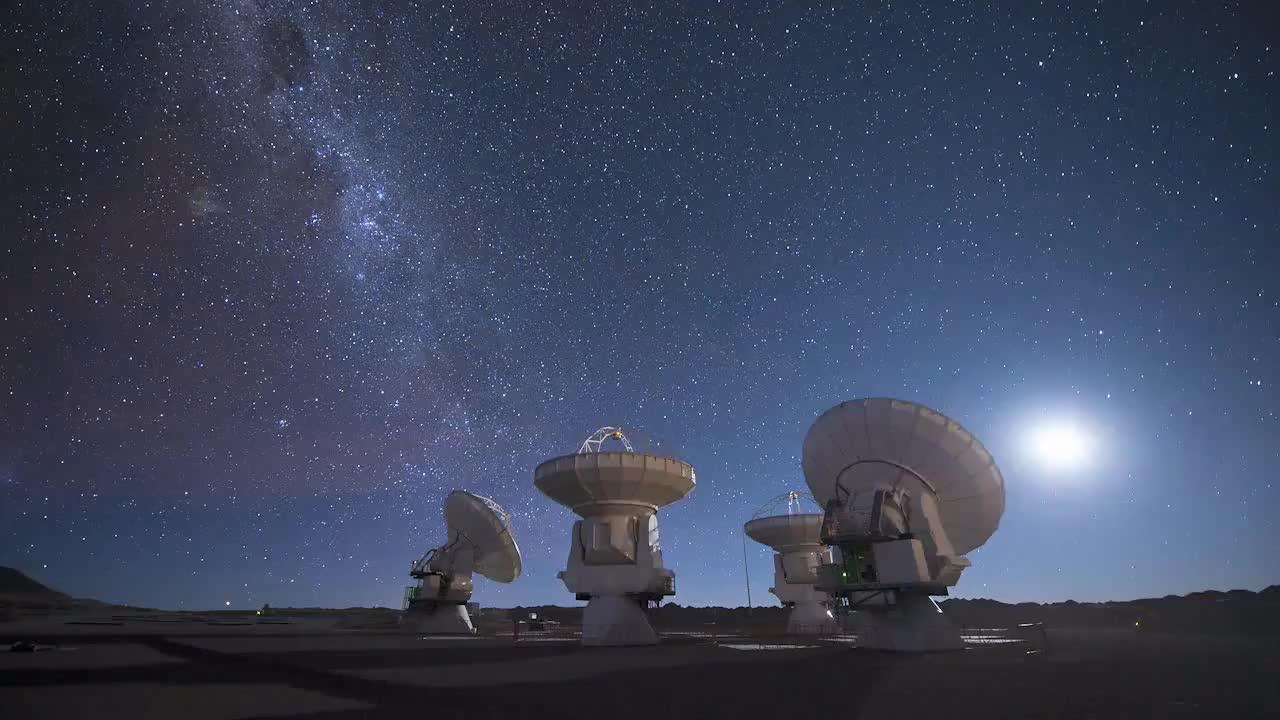 astrophotography, eso, ESO ALMA Antenna Time Lapse #1 [720p] GIFs