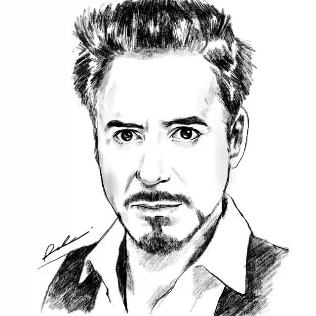 Watch and share Tony Stark (Robert Downey Jr) Speed Drawing GIFs by radennorfiqri on Gfycat