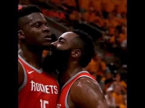 Watch James Harden teaching a young Clint Capela how to roar GIF on Gfycat. Discover more related GIFs on Gfycat