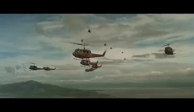 Watch and share Apocalypse Now - Helicopter Scene - Ride Of The Valkyries GIFs on Gfycat