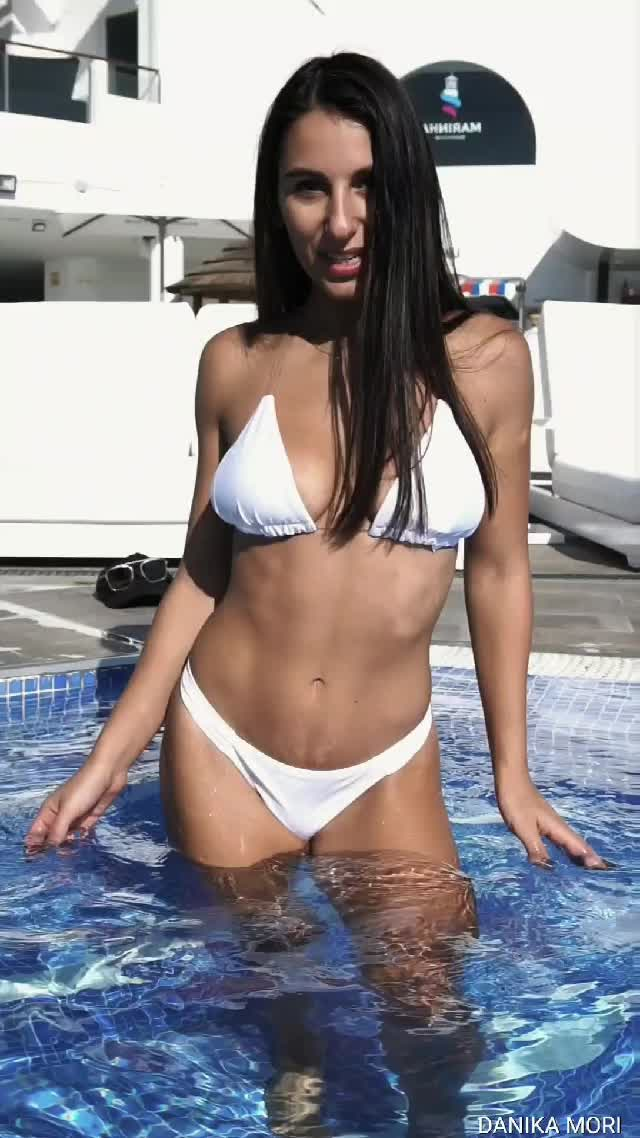 danika Mori Dancing in the pool!