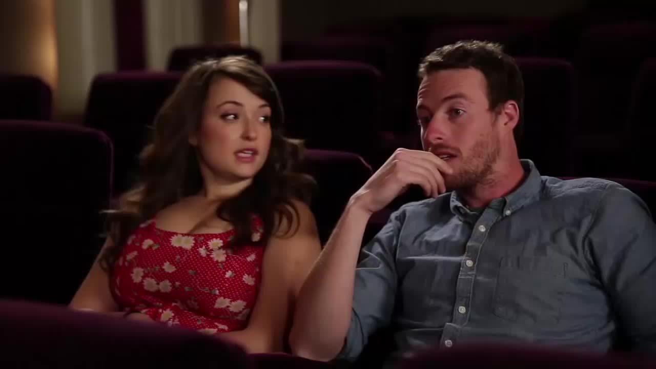 Milana Vayntrub, milanavayntrub, Looking gorgeous in a Jake and Amir episode GIFs