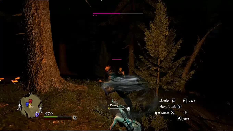 60fpsgaminggifs, Dragon's Dogma: Nighttime Battle GIFs