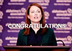 Watch this congrats GIF on Gfycat. Discover more *, alice howland, congrats, congratulations, galadrielles, gifs, julianne moore, oscars 2015, still alice GIFs on Gfycat